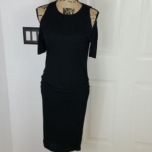 Bun Maternity Black Dress